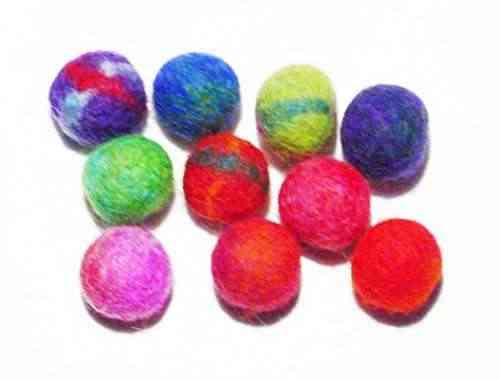 Manualidades lana bolas de navidad de fieltro 10 pcs 1 x 1 - Bolas de navidad de fieltro ...