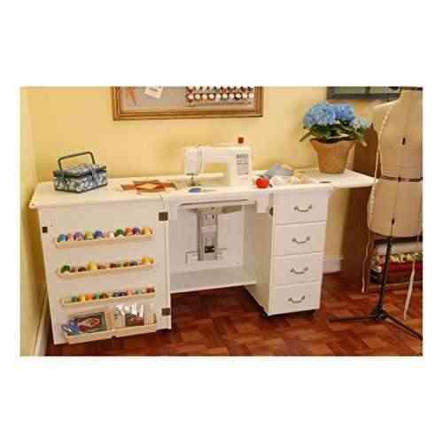 Mueble para mquina de coser norma jean blanco 0 m quina for Mueble organizador de costura
