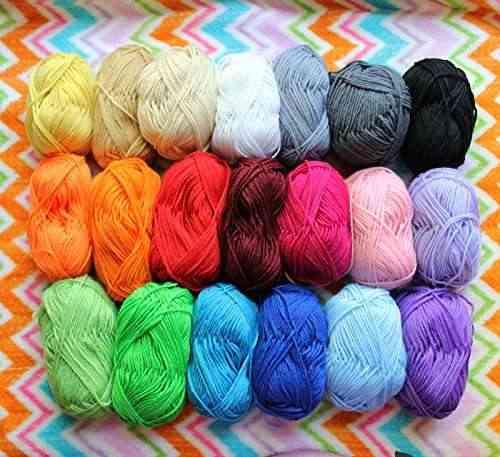 Paquete de 20x 50g rollos de hilo de lana para doble punto for Mantas de lana de colores