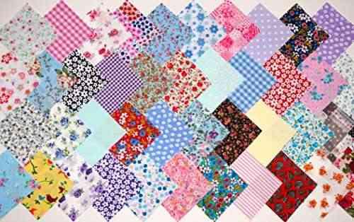 4 pouces 10 cm de tissu carr s patchwork quilting craft - Estilo patchwork ...