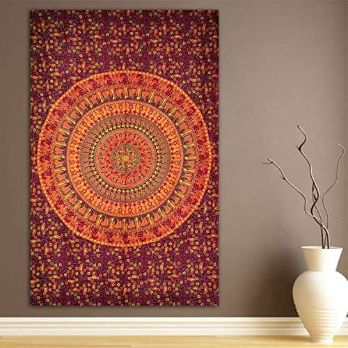 Elephant camel tapestry indian hippie wall hanging for Zapateros tela para colgar